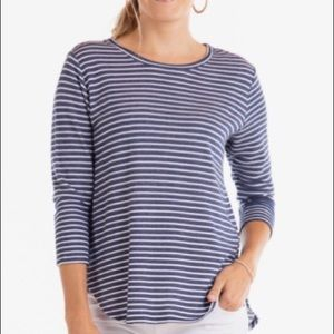 Old Navy Fleece Pullover Striped Crewneck Sweater
